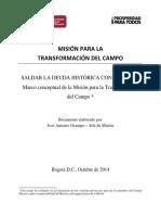 Documento Marco Misión Para La Transformación Del Campo