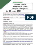 Bollettino Difesa Integrata Obbligatoria Provincia Ferrara 26ago15