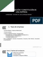 CONTABILIDAD  2° SEMANA - FORMALIZACIÓN DE  EMPRESA  - 2016 - II
