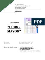 Trabajo de Contabilidad Libro Mayor