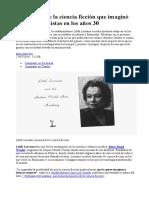La Pionera de La Ciencia Ficción Que Imaginó Utopías Feministas en Los Años 30