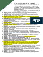 Propuesta Elaborada Por La Asamblea Nacional de Venezuela