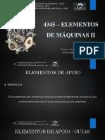 4345 - Aula 11 - Elementos de Máquinas II
