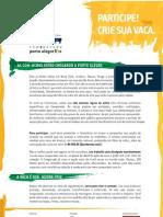 Regulamento COWPARADE Porto Alegre