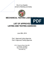 Approved Testing Agencies