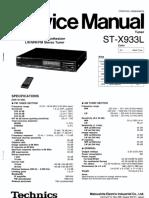 Hfe Technics St-x933l Service En