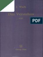 Das_Verstehen - Joachim Wach