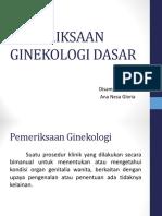 Pemeriksaan Ginekologi Dasar