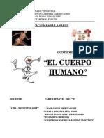 Trabajo de Salud El Cuerpo Humano