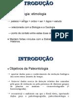 Breve introduccion, paleontologia