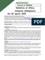 Bollettino Difesa Integrata Obbligatoria Provincia Ferrara 20ago15