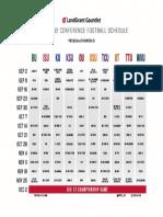 LGG 2017 Big 12 Football Schedule
