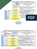 Temario e Indicadores de Evaluación Del Tercer Bimestre