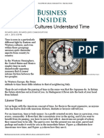 How Different Cultures Understand Time - Business Insider