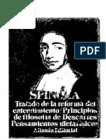 """Spinoza """"Tratado de La Reforma Del Entendimiento Principios de Filosofía Pensamientos Metafísicos"""""""