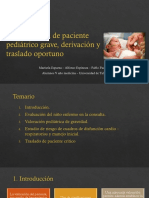 10a. Identificación Del Paciente Grave, Derivación