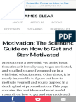 On Motivation II