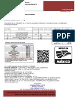 SICMA%2c S.A. DE C.V. COTIZACION S-3256 PERALTE 15+5  VIGUETA Y BOVEDILLAS