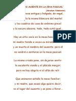 """""""El Hermano Ausente en La Cena Pascual"""" Valdelomar)"""