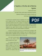 Memoria Yaquilina, a 50 años de la Reforma Agraria.