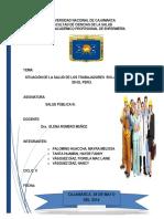 Situación de La Salud de Los Trabajadores a Nivel de Latinoamérica y El Perú