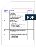 Working Capital Analysis