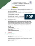 2.-Especificaciones Técnicas