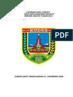 Laporan Hasil Survey Ikm Pertama 2015