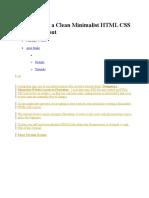 Tampilan Website Sederhana