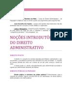 01. Noções Introdutórias Do Direito Administrativo