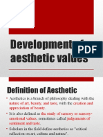 Development of Aesthetic Values