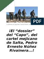 El dossier del Cartel de Sinaloa-Salta.