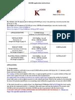 K100 Application Instructions