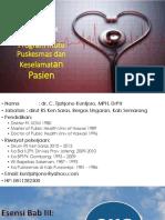 Esensi Bab III, VI, IX Dan Program Mutu Puskesmas Dan KP 19 JULI 2015