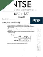 Ntse State Level Sample Paper 8