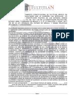 Reglamento Orgánico Municipal Tultitlán 2013-2015