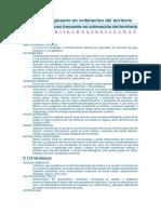 Diccionario y Glosario en Ordenacion Del Territorio