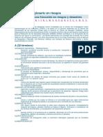 Diccionario y Glosario en Riesgos