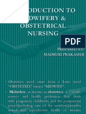 Introduction to Midwifery & Obstetrical Nursing | Midwife