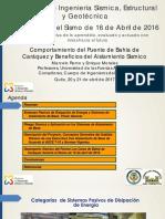 Comportamiento Del Puente de Bahia y Beneficios Del Aislamiento Sismico M Romo y E Morales