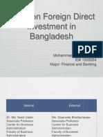 Study on FDI in Bangladesh