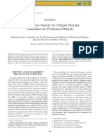 2009 Japanese Society for Dialysis Therapy- Guidelines for Peritoneal Dialysis