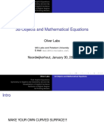 3d-Objects and Mathematical Equations