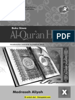 Buku Al-Qur'an Hadis Kelas 10