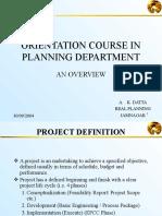 Orientation Course in Planning Dept