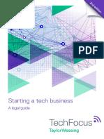 Starting a Tech Business - A Legal Guide