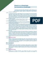 Diccionario y Glosario en Climatología