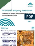 10° Aislamiento, Bloqueo y Señalizacion (v.2011) nvo estandar.ppt
