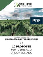 Conegliano - Opuscolo Fiaccolata Contro i Pesticidi Del 20.7.2017 Con Le 10 Richieste Per Il Sindaco Di Conegliano