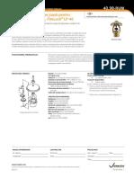Sprinkler de presiune joasă pentru spaţii de depozitare, FireLock LP-46